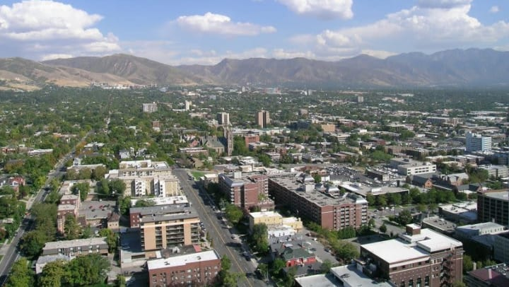 A view of Salt Lake City, the home of a STOR-N-LOCK Self Storage location