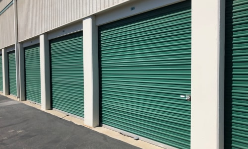 Exterior storage units at Storage Star Vacaville in Vacaville, California