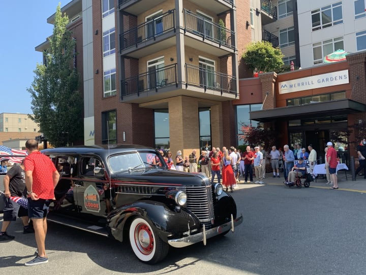 Kirkland (WA) residents enjoyed the sunny weather for a parade, barbeque and plenty of Independence Day decorations.