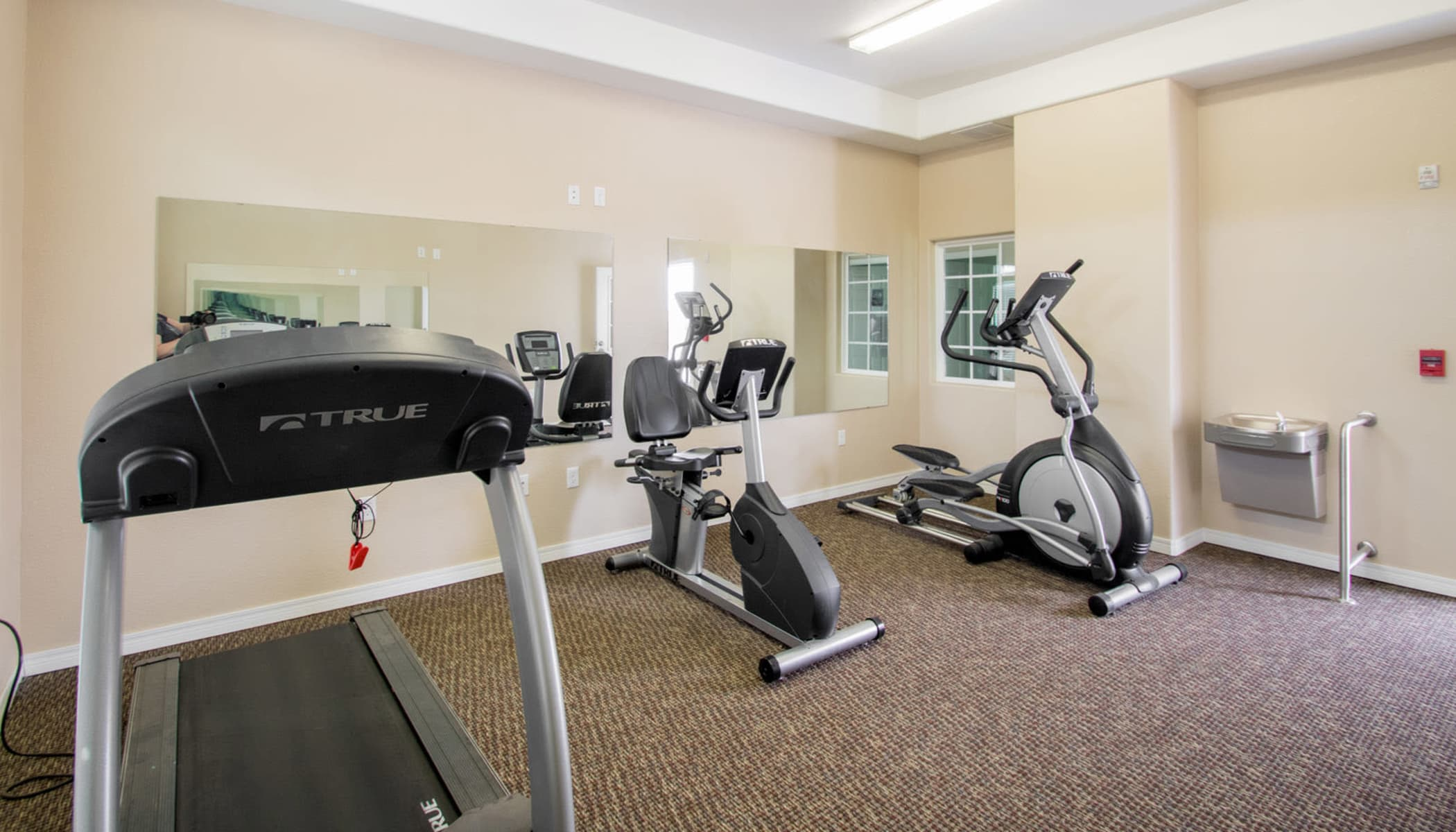 Fitness center at The Reserves at Brookside in Borger, TX