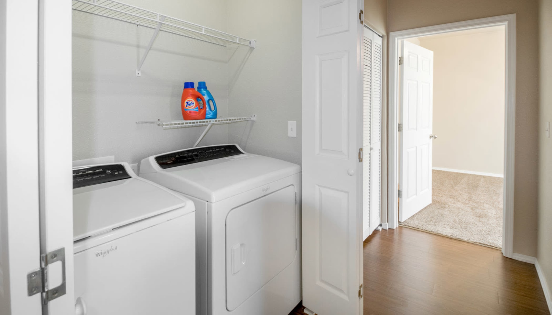 In-unit washer and dryer at The Reserves at Brookside in Borger, TX
