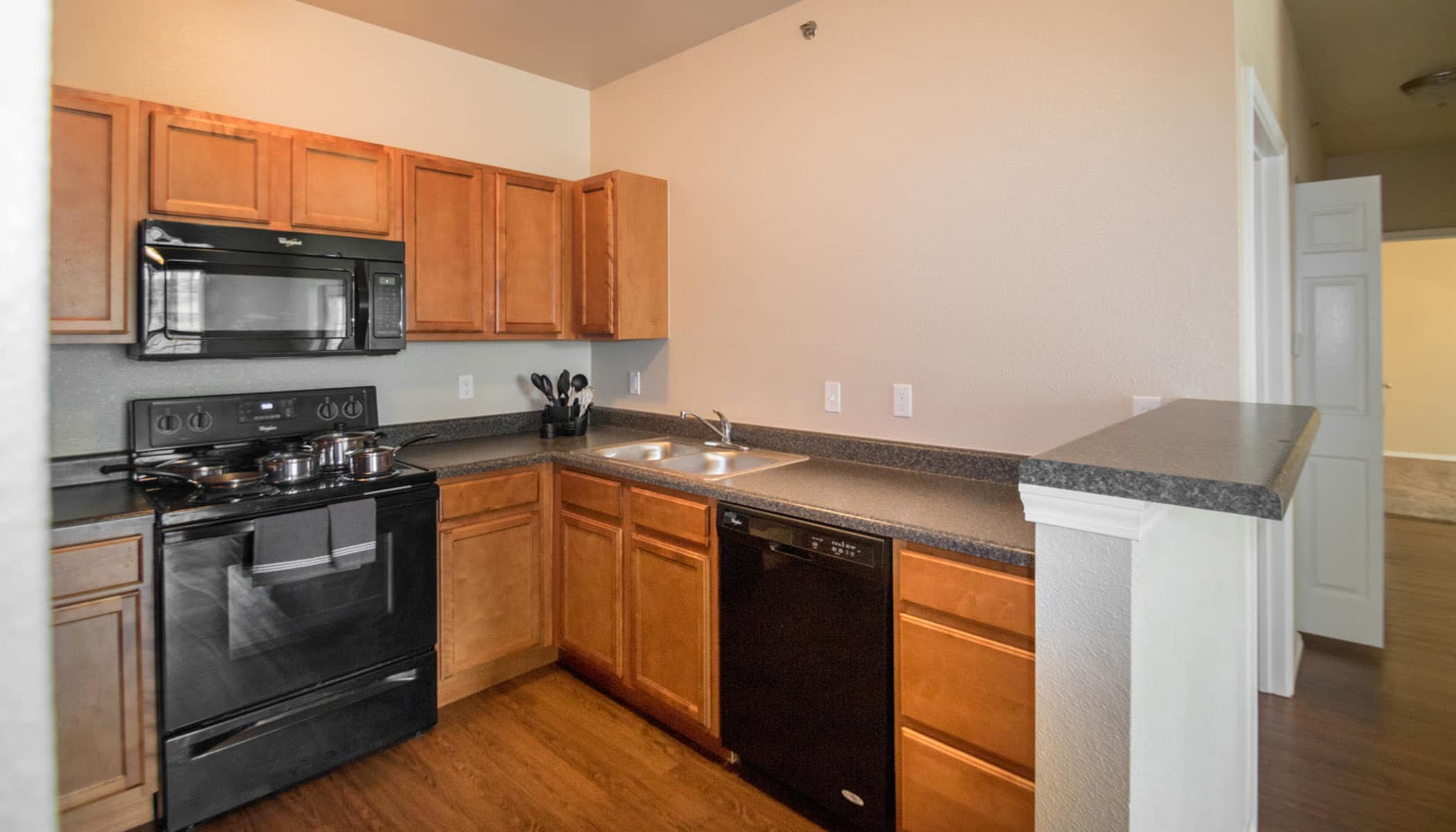 Kitchen at The Reserves at Brookside in Borger, TX