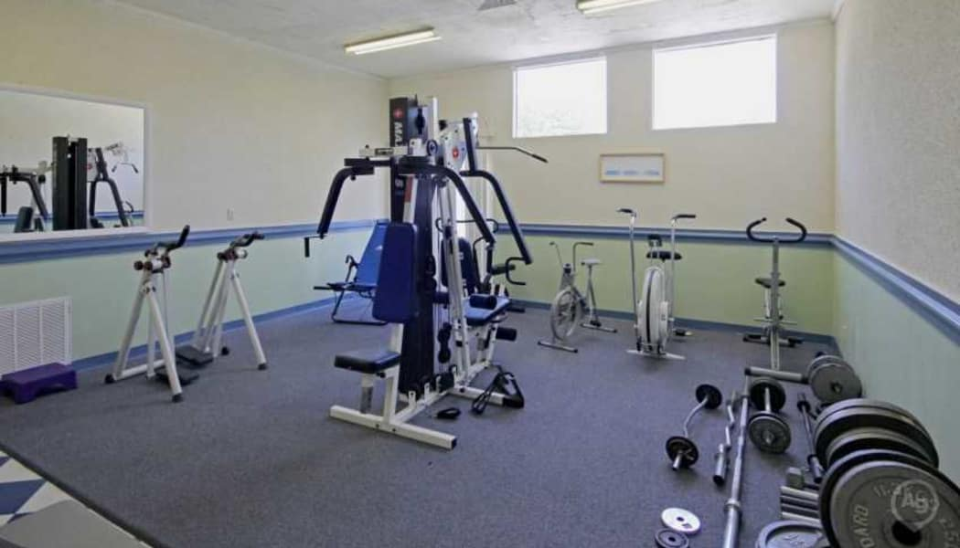 Well-equipped onsite fitness center at Residences at Sonoma Woods in Newport News, VA