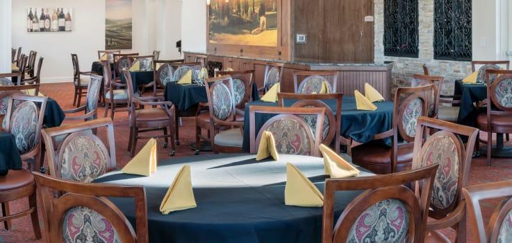 Community dining room at Merrill Gardens at ChampionsGate