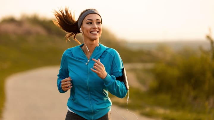 Woman running near Tacara at Westover in San Antonio, Texas