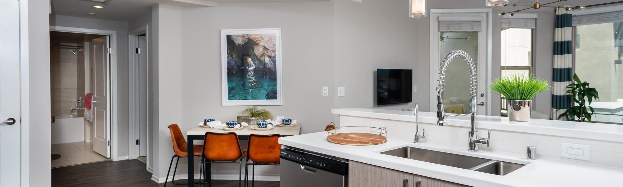 Floor plans at Olympus Corsair in San Diego, California