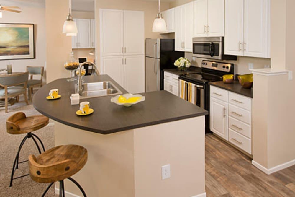 Luxurious kitchen at Rosewalk in San Jose, California