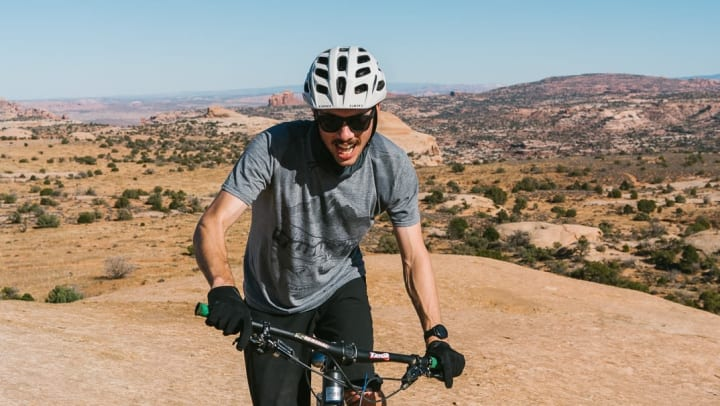Kyle Frost mountain biking