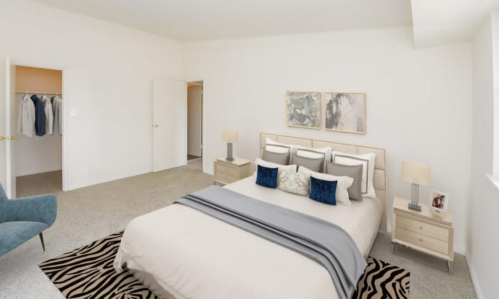 Large Bedroom at Strafford Station Apartments in Wayne, Pennsylvania