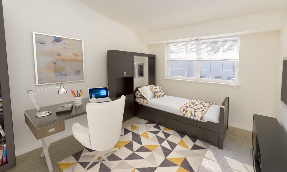 Cozy Bedroom at Strafford Station Apartments in Wayne, Pennsylvania