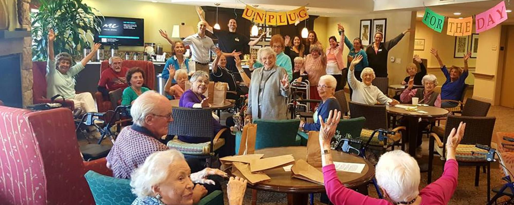 Residents celebrating at The Reserve at Thousand Oaks in Thousand Oaks, California