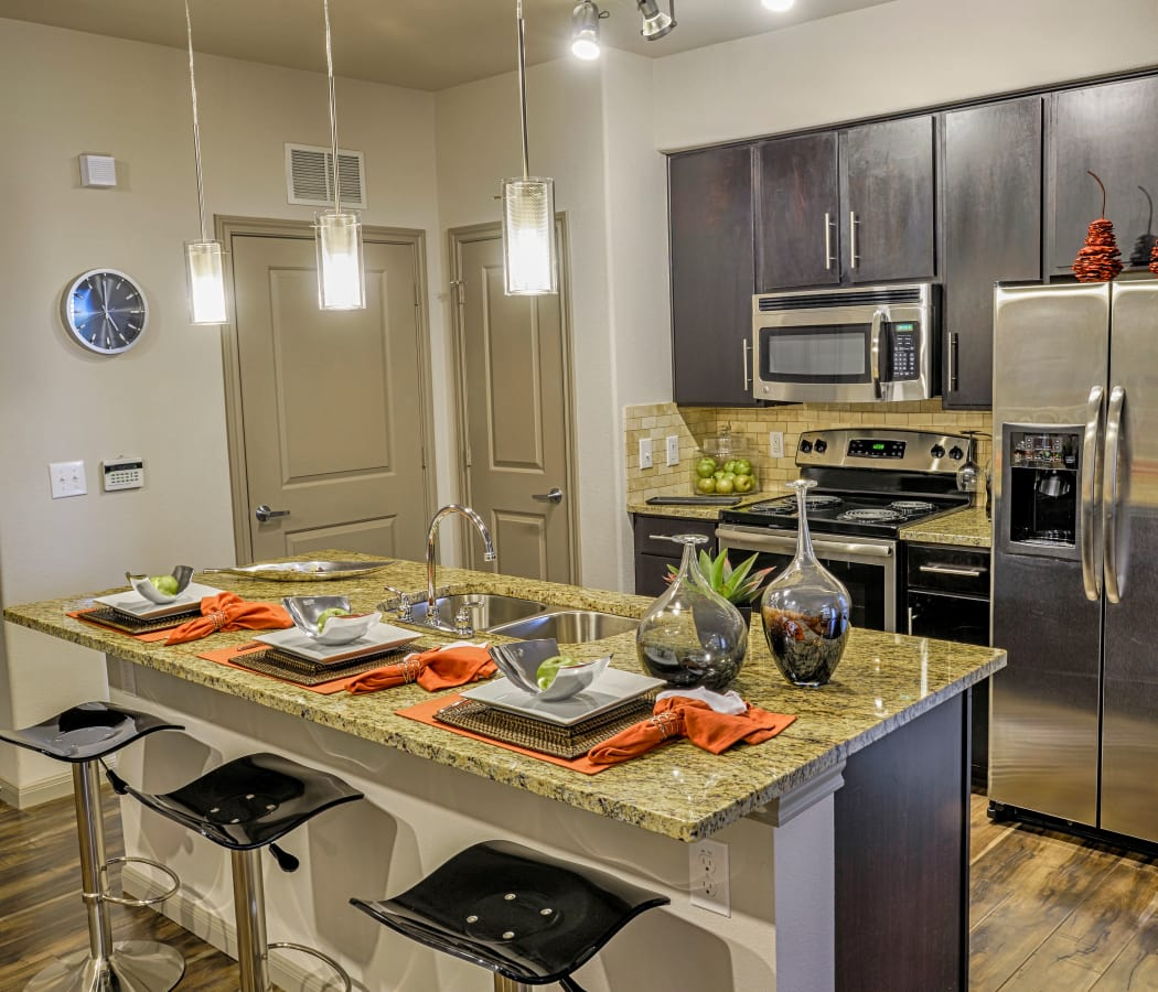 Bright open kitchen at Radius at Shadow Creek Ranch in Pearland