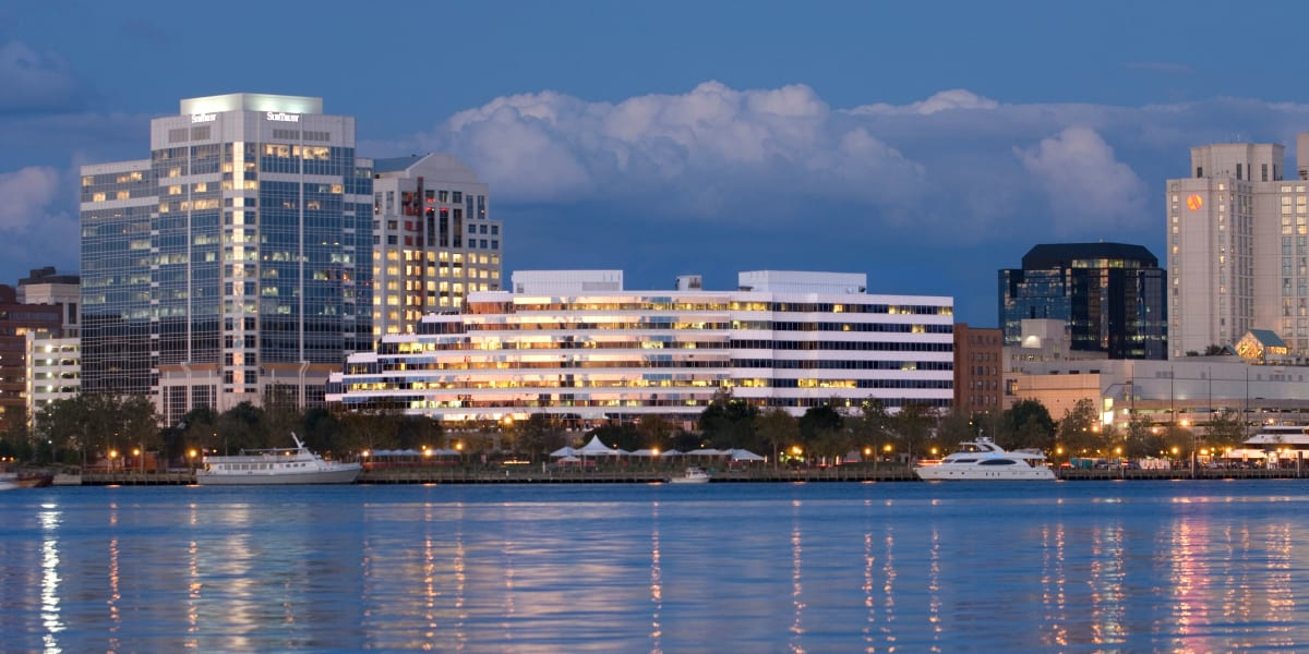 Commercial buildings owned by Harbor Group Management in Norfolk, Virginia