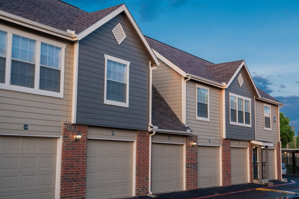 Attached garages at Winchester Apartments in Amarillo, Texas