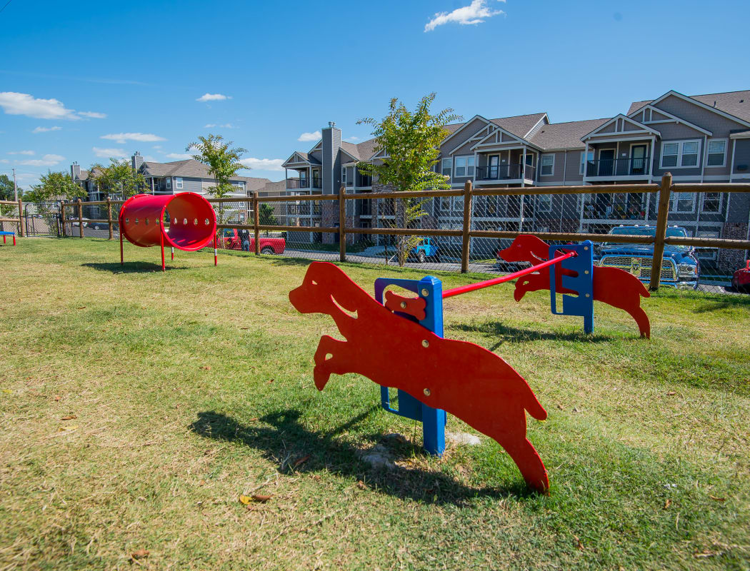 Dog park at Cedar Ridge Apartments in Broken Arrow, Oklahoma