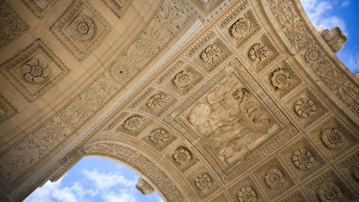 Beautiful architecture at the Louvre in Paris in a blog on our website at Olympus Woodbridge in Sachse, Texas