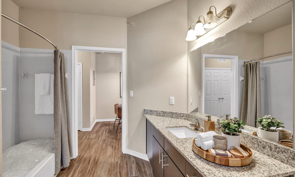 Apartment Bathroom |  Wiregrass at Stone Oak