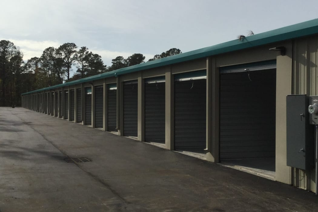 Climate Controlled Exterior Storage Units at our self storage facility in Wilmington, North Carolina