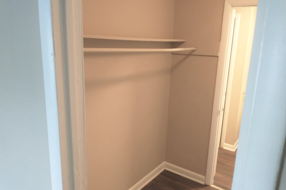 Large walk-in closet at The Village at Crestview in Madison, Tennessee