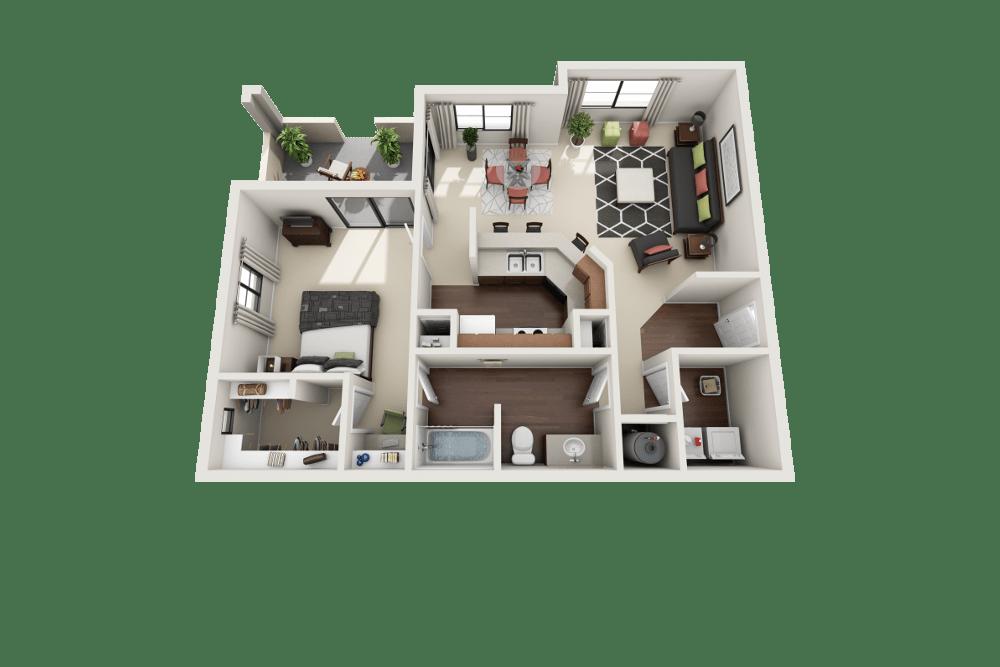 Topaz floor plan at Ventana Canyon Apartments in Albuquerque, NM