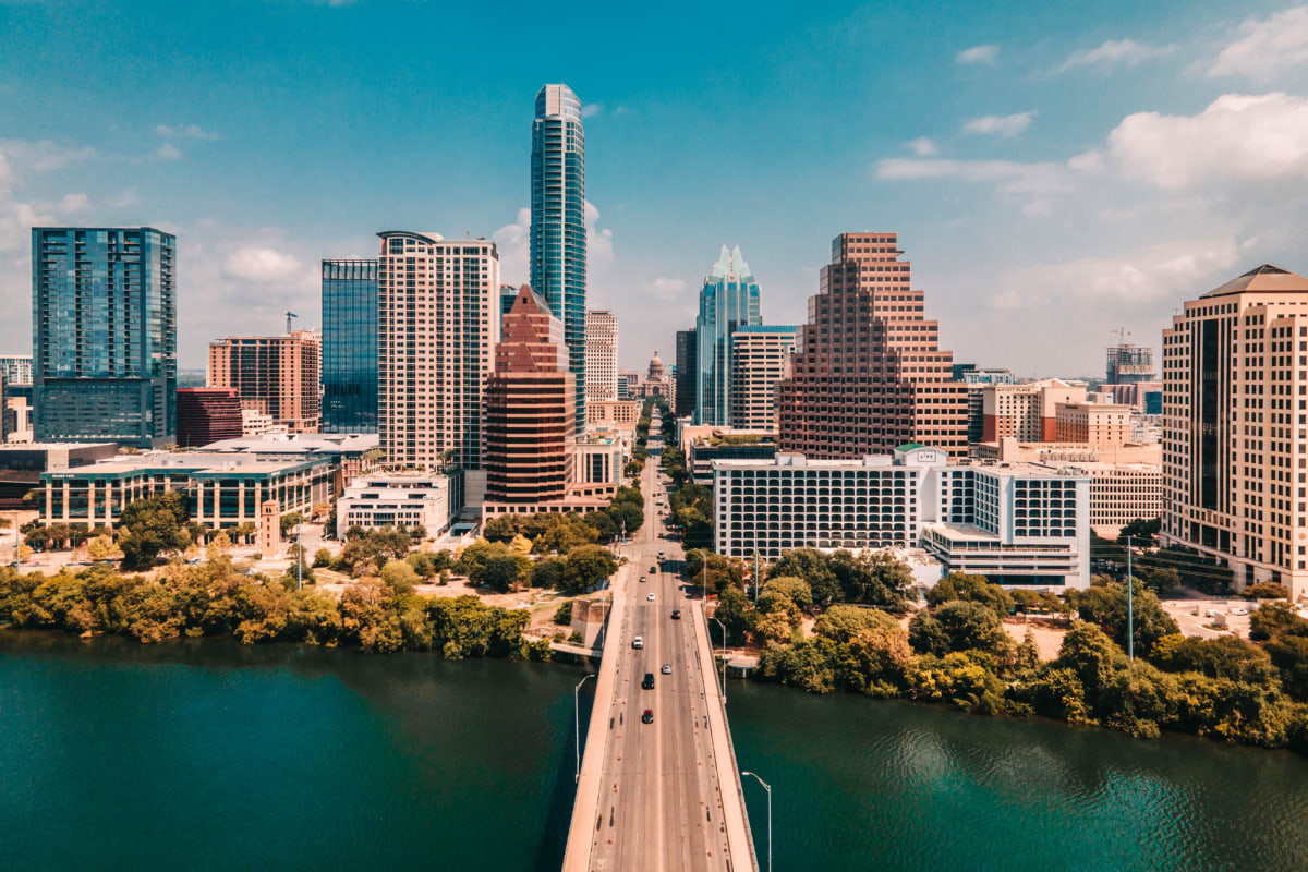Stunning view of Austin, Texas from Marquis SoCo