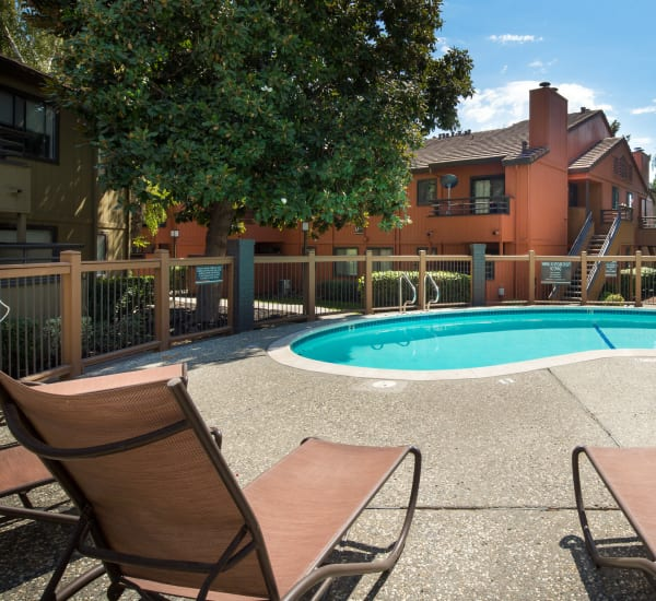 Bennington Apartments has a pool in Fairfield, California