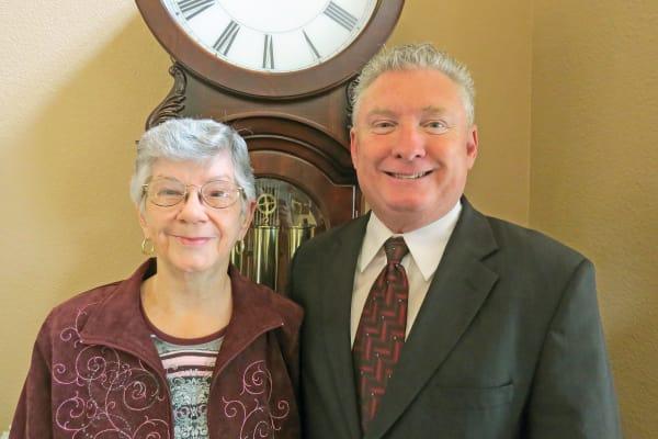 Tom Norvell and Joyce Norvell, residents at Camden Springs Gracious Retirement Living in Elk Grove, California