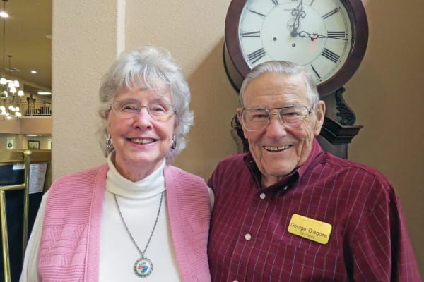 George and JoAnn Gregoire, residents at Camden Springs Gracious Retirement Living in Elk Grove, California