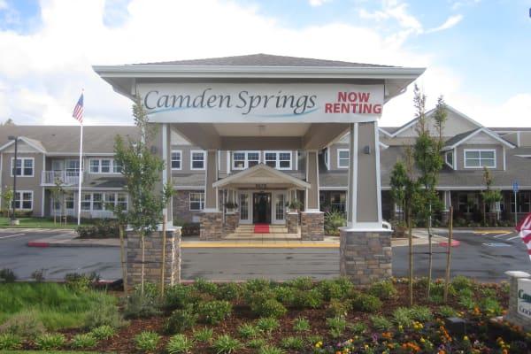 Building exterior at Camden Springs Gracious Retirement Living in Elk Grove, California