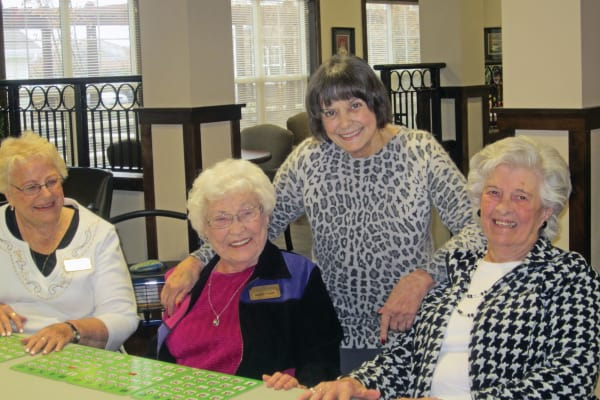 A group of residents at Magnolia Heights Gracious Retirement Living in Franklin, Massachusetts
