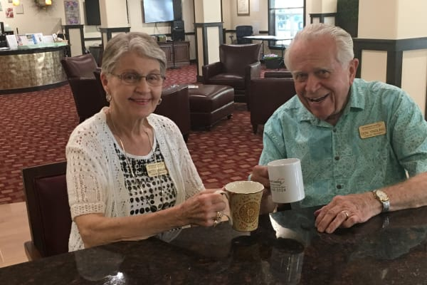 Don and Betty Yingling, at Ivy Creek Gracious Retirement Living in Glen Mills, Pennsylvania