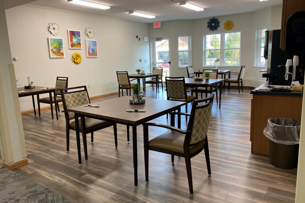 Assisted Living dining room at Garden View Place in Monona, Iowa