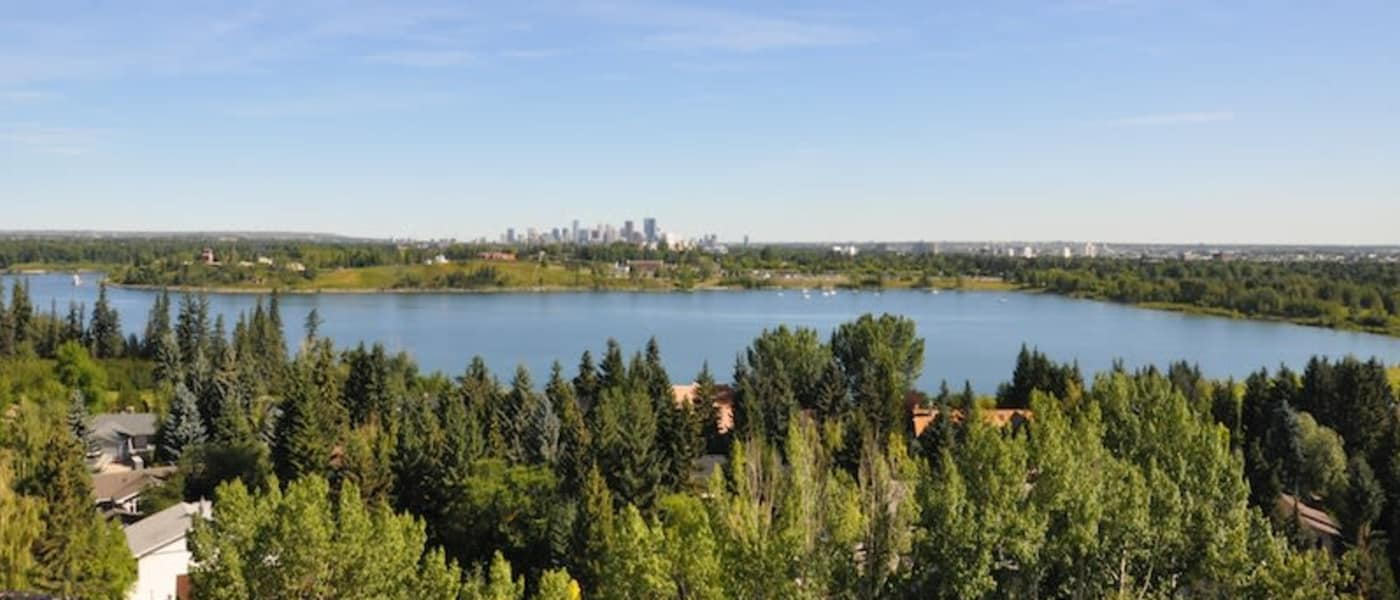 Lake near Glenmore Gardens in Calgary