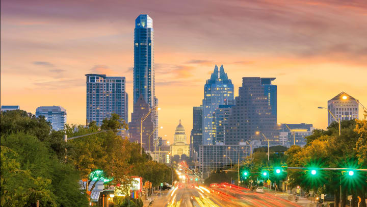 A view of the Austin, Texas, skyline