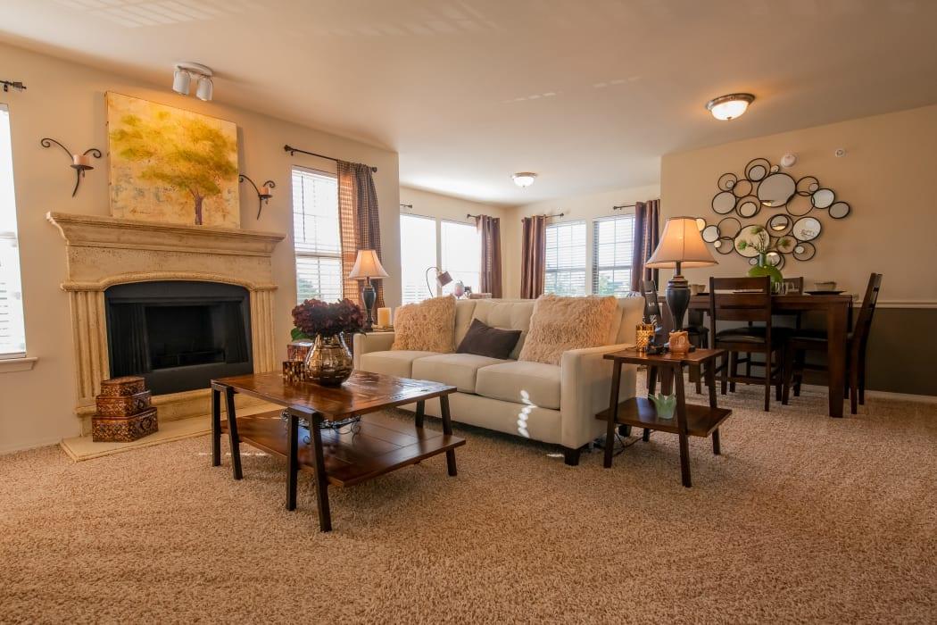 Living area at Park at Tuscany in Oklahoma City, Oklahoma