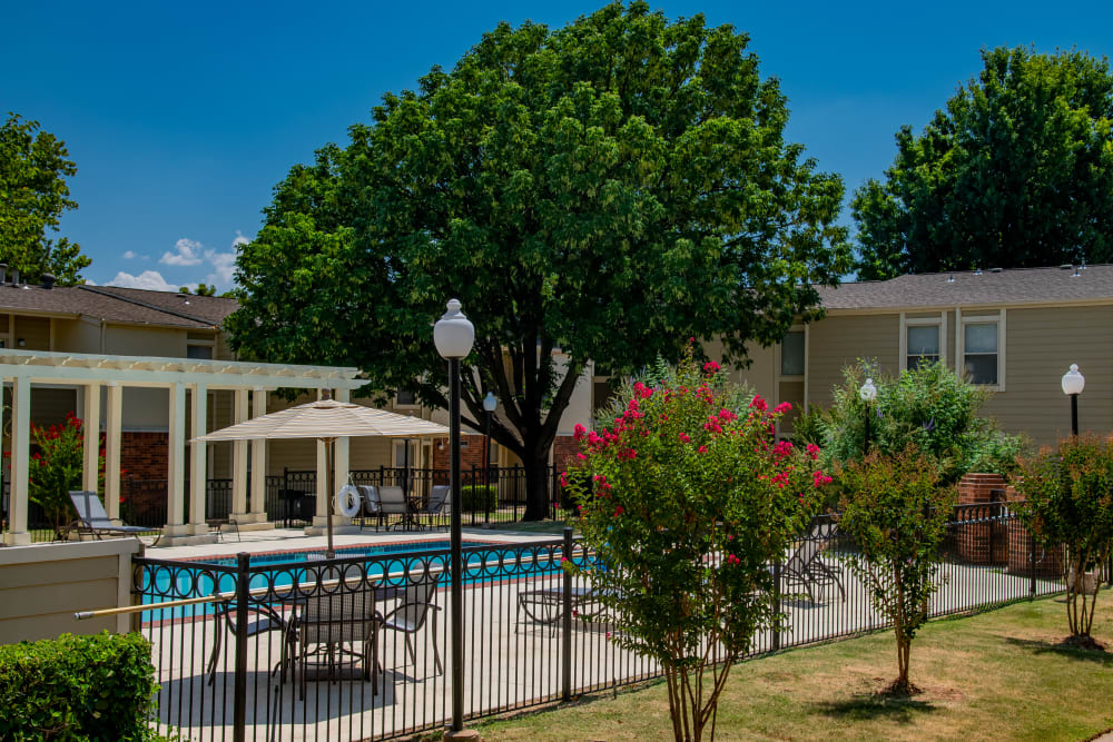 Summerfield Place Apartments offers a beautiful pool in Oklahoma City, Oklahoma