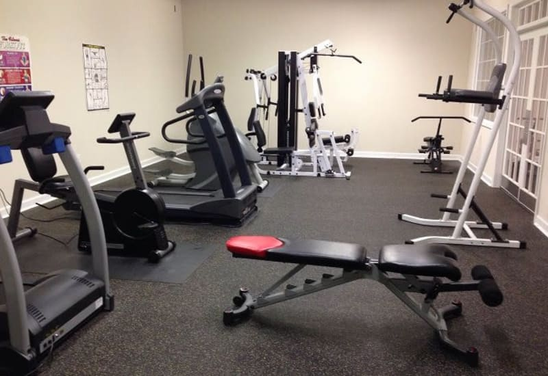 Unique fitness center at Heritage Apartments in Hillsborough, North Carolina