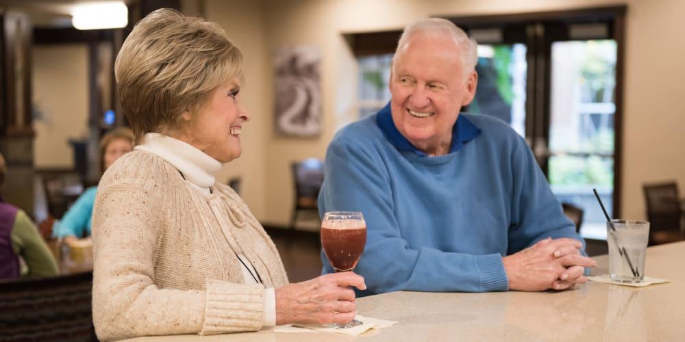 Residents enjoying beverages at The Springs at Tanasbourne in Hillsboro, Oregon