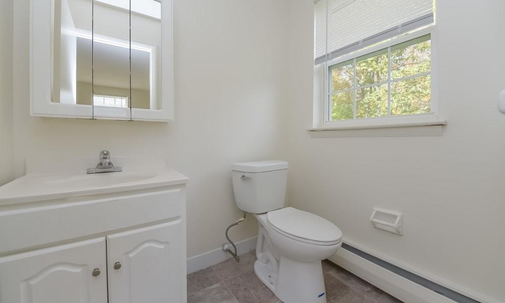 Spacious bathroom at Woodacres Apartment Homes in Claymont, DE