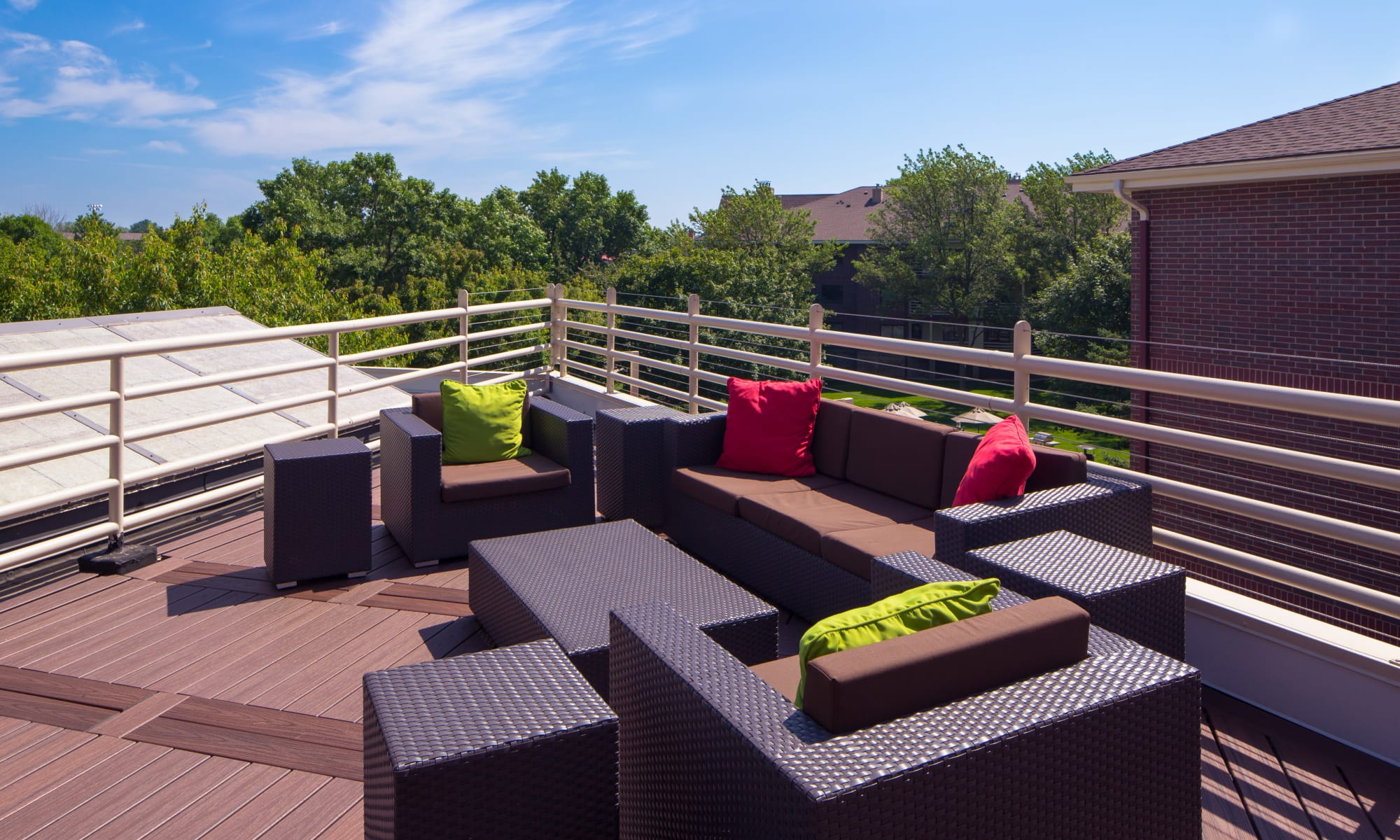 Roof top sun deck at Avana on Seven Apartments
