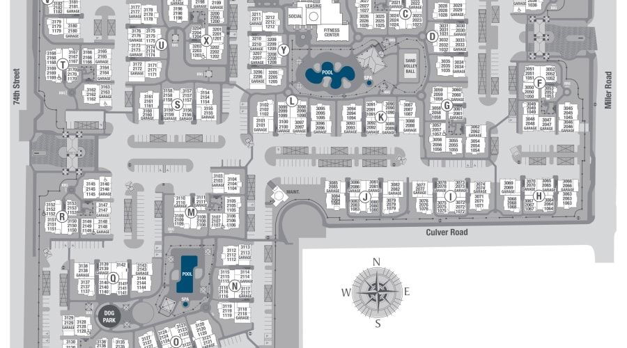 San Travesia site plan