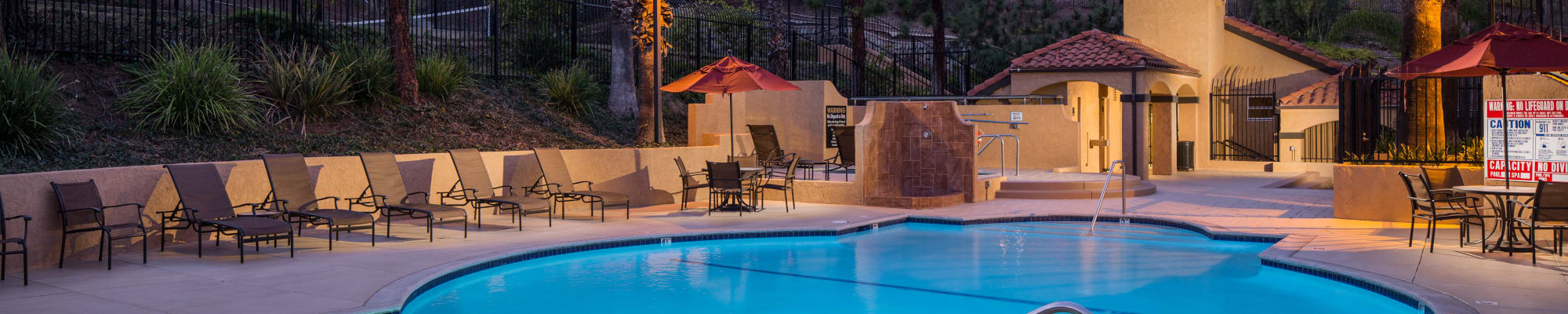 Amenities at Shadow Ridge Apartment Homes in Simi Valley, California