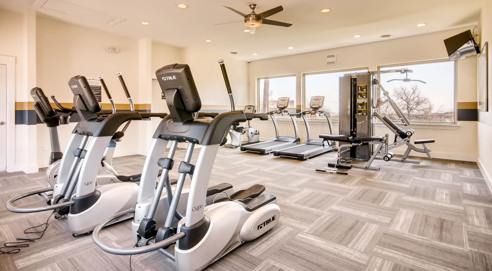 Fitness area at Mountain Vista in Lakewood, Colorado