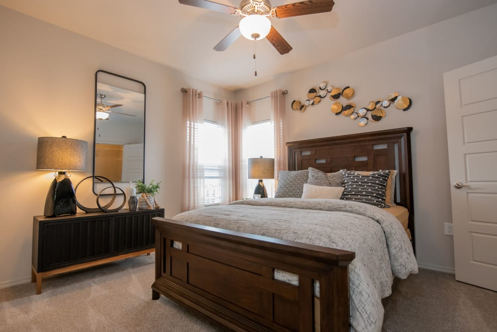 Master bedroom at 97@ North Oak in Kansas City, Missouri