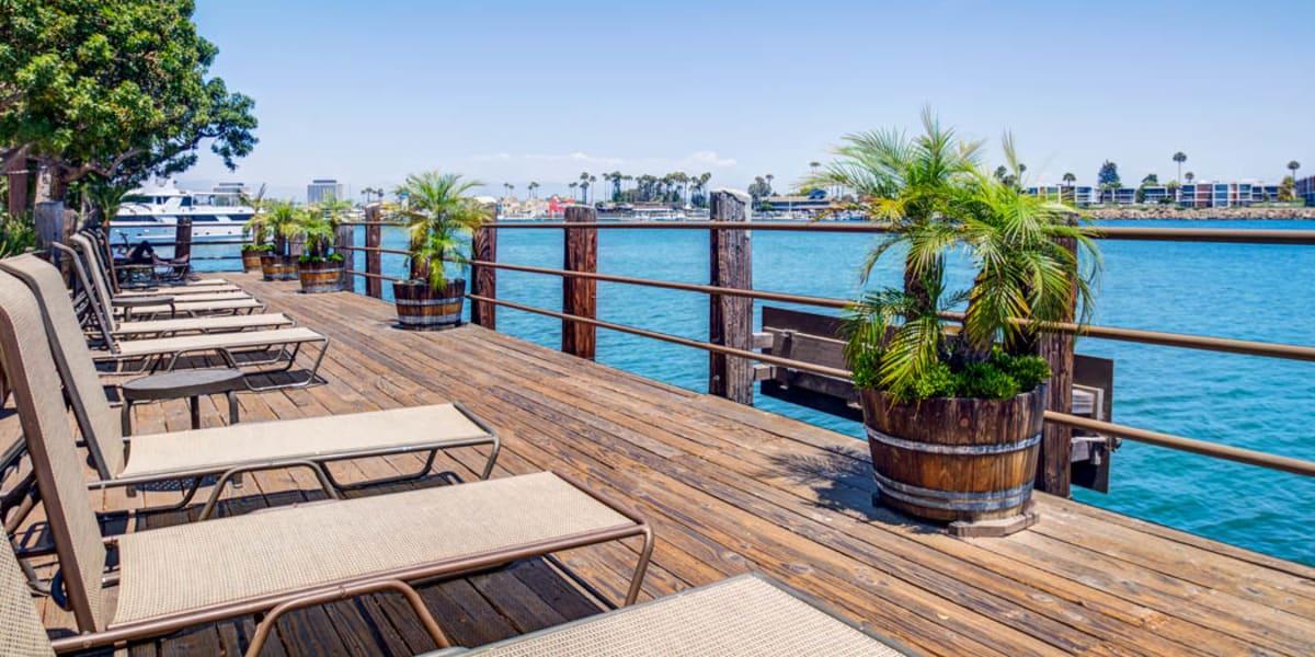 Oceanside views at Mariners Village in Marina del Rey, California