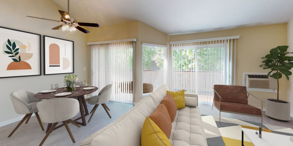 View a virtual tour of a 2 bedroom luxury home at Valley Plaza Villages in Pleasanton, California