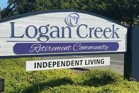 Front sign at Logan Creek Retirement Community