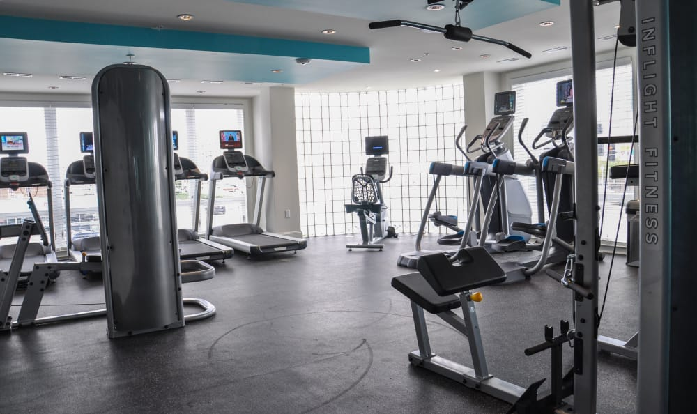 Plenty of equipment in our fitness center to help you stay in shape at Aqua on 25th in Virginia Beach, VA