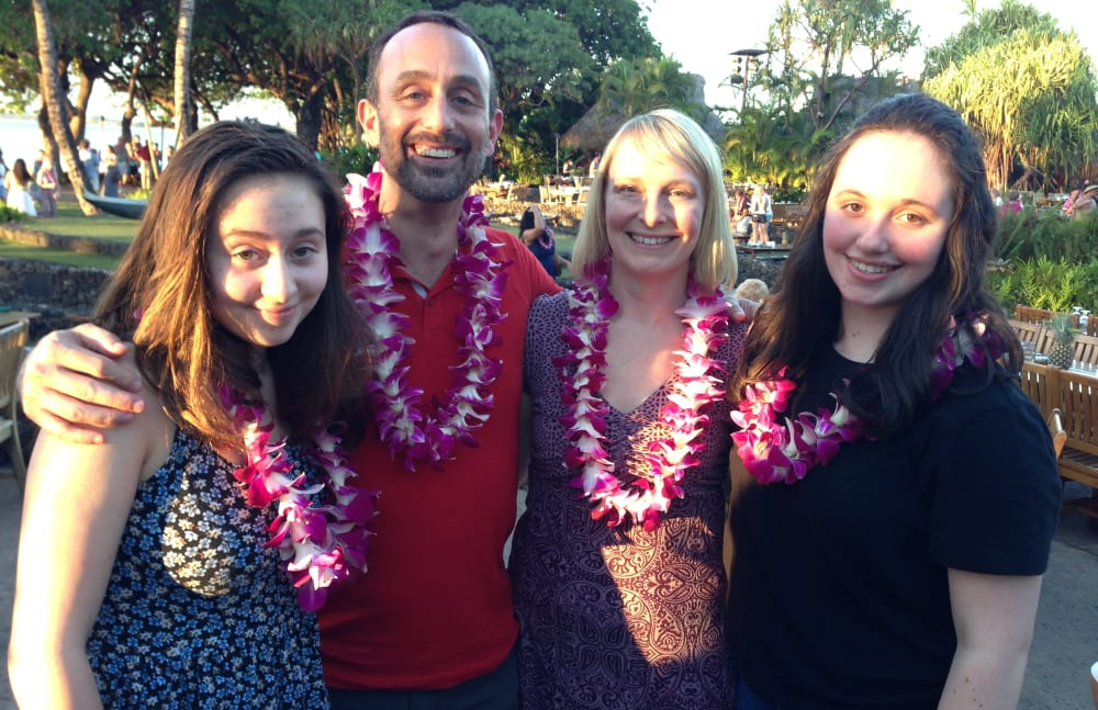 Steve Ferrarini from Touchmark Central Office in Beaverton, Oregon and his family in Hawaii