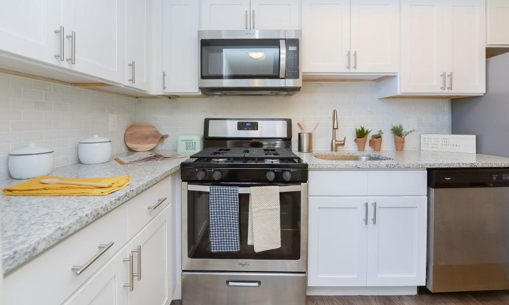 Bright Kitchen at Strafford Station Apartments in Wayne, Pennsylvania